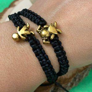 Siblings Twins boy 👦🏻 girl 👧🏻 braided bracelet
